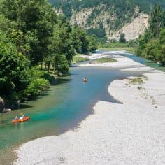 Canoë sur la rivière Drôme - Top des spots nature de la Drôme