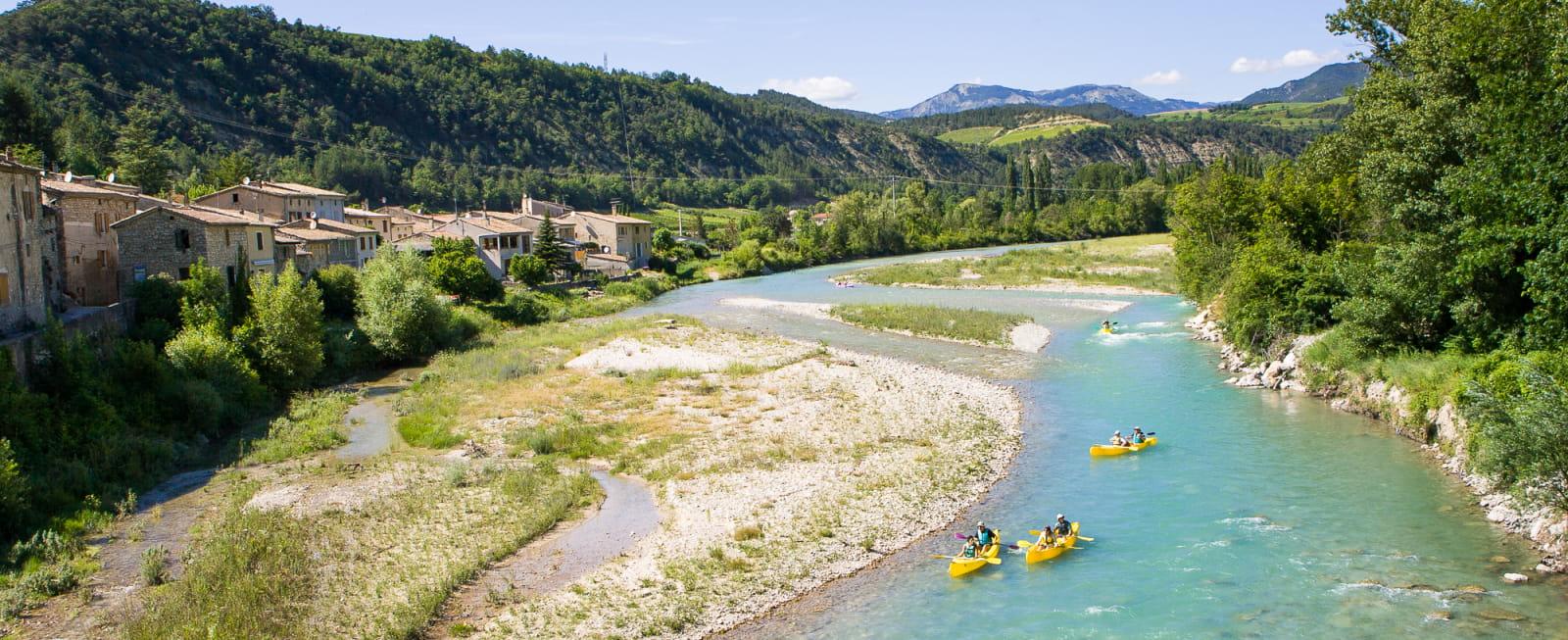 Canoë-kayak sur la rivière Drôme - incontournable