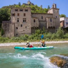 La Drôme, destination eau - activités ludiques : canoë sur la rivière Drôme à Pontaix