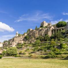 Montbrun-les-Bains, Plus beau village de France et village perché de la Drôme