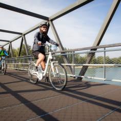 Passerelle de la véloroute voie verte Vallée de l'isère