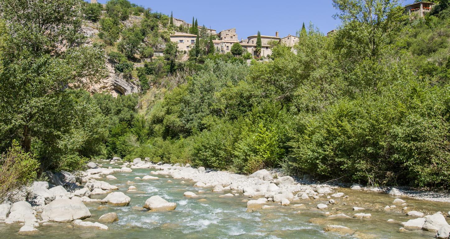 rivière de l'Eygues à Saint-May dans les Baronnies