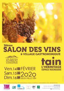 affiche représentant une grappe de raisin sur fonf jaune