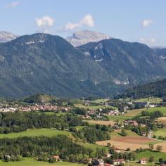 Village de la Chapelle-en-Vercors dans la Drôme