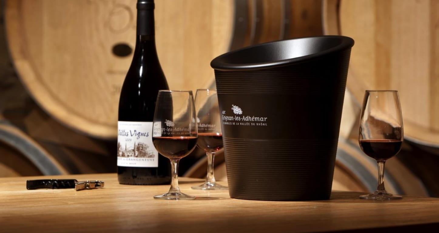 Dégustation de vins de l'appellation Grignan-les-Adhémar