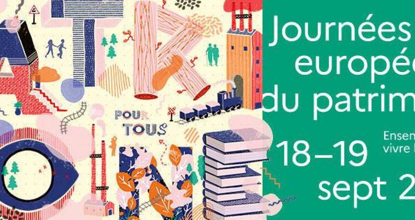 affiche journées europééennes du patrimoine 2021
