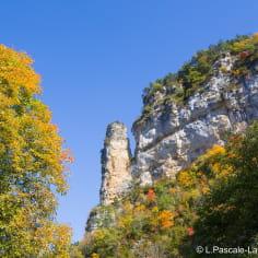 paysage d'automne dans la Drôme