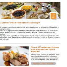 Newsletter ADT Drôme - La Drôme s'invite à votre table et sous votre sapin