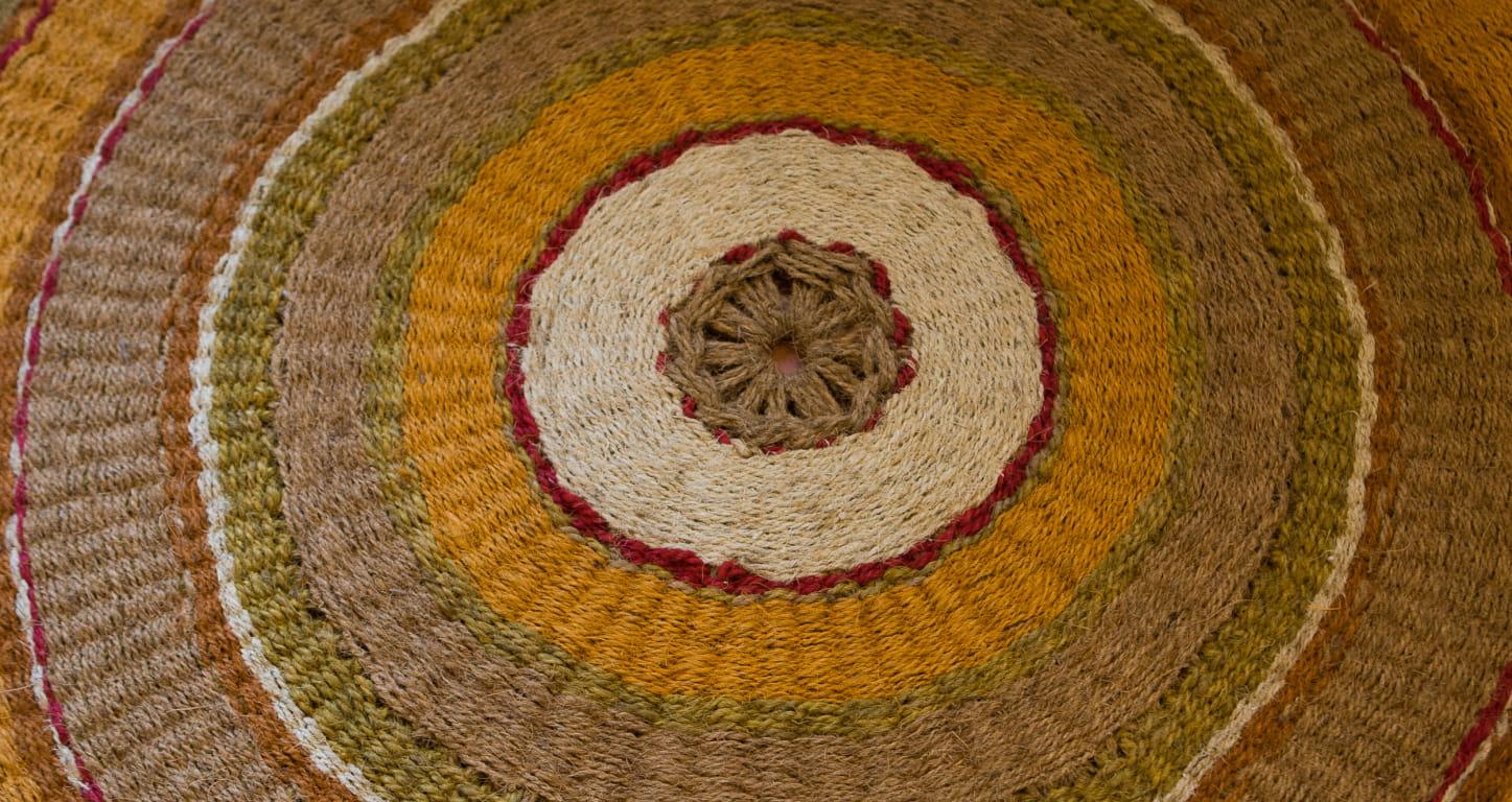 les scourtins, tapis en fibre de coco