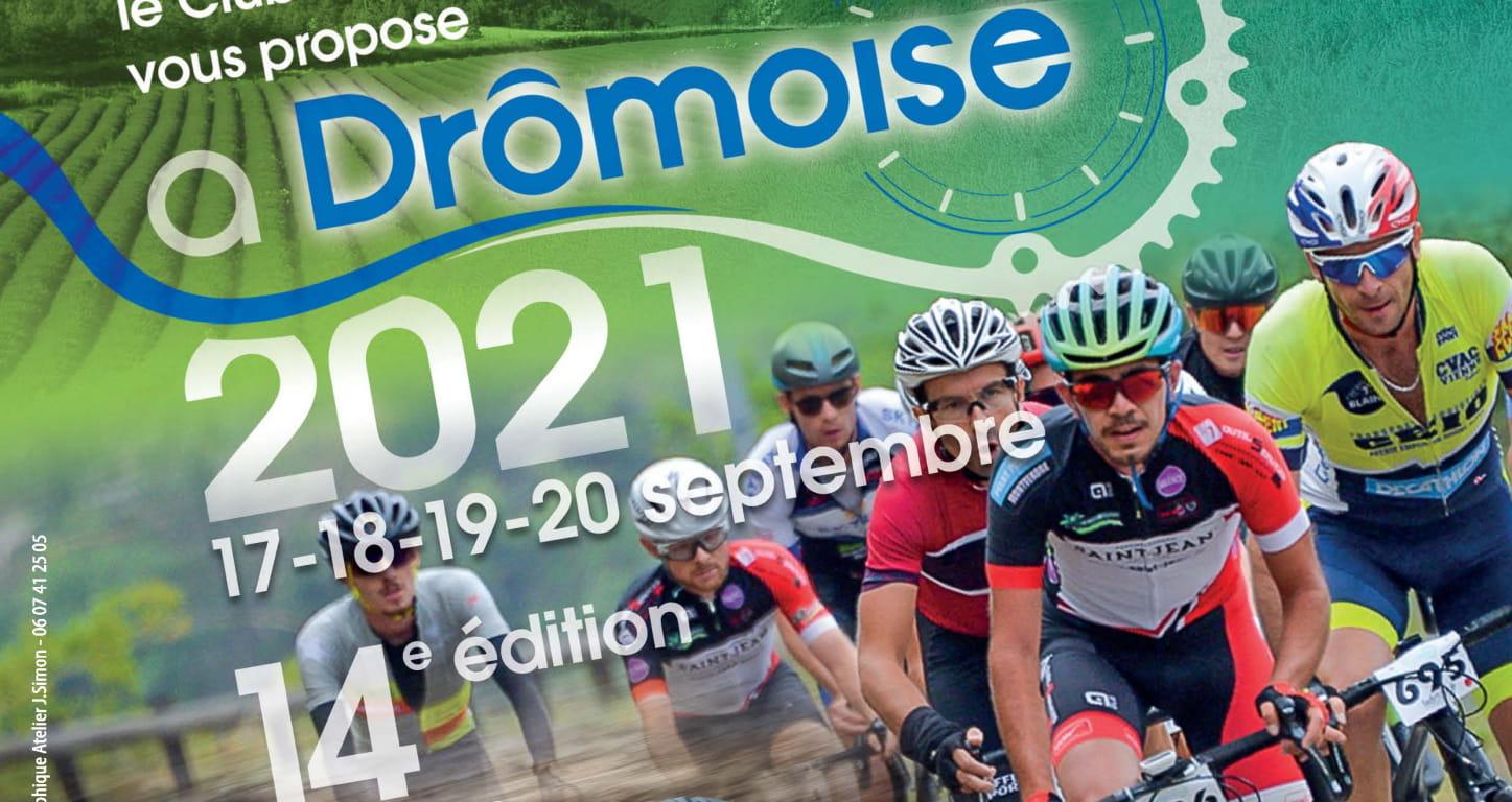 Affiche 2021 de la Drômoise, une des 10 plus grandes cyclosportives de France