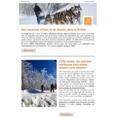 Newsletter sur les vacances d'hiver dans la Drôme