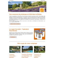 Newsletter vacances de printemps et d'été dans la Drôme