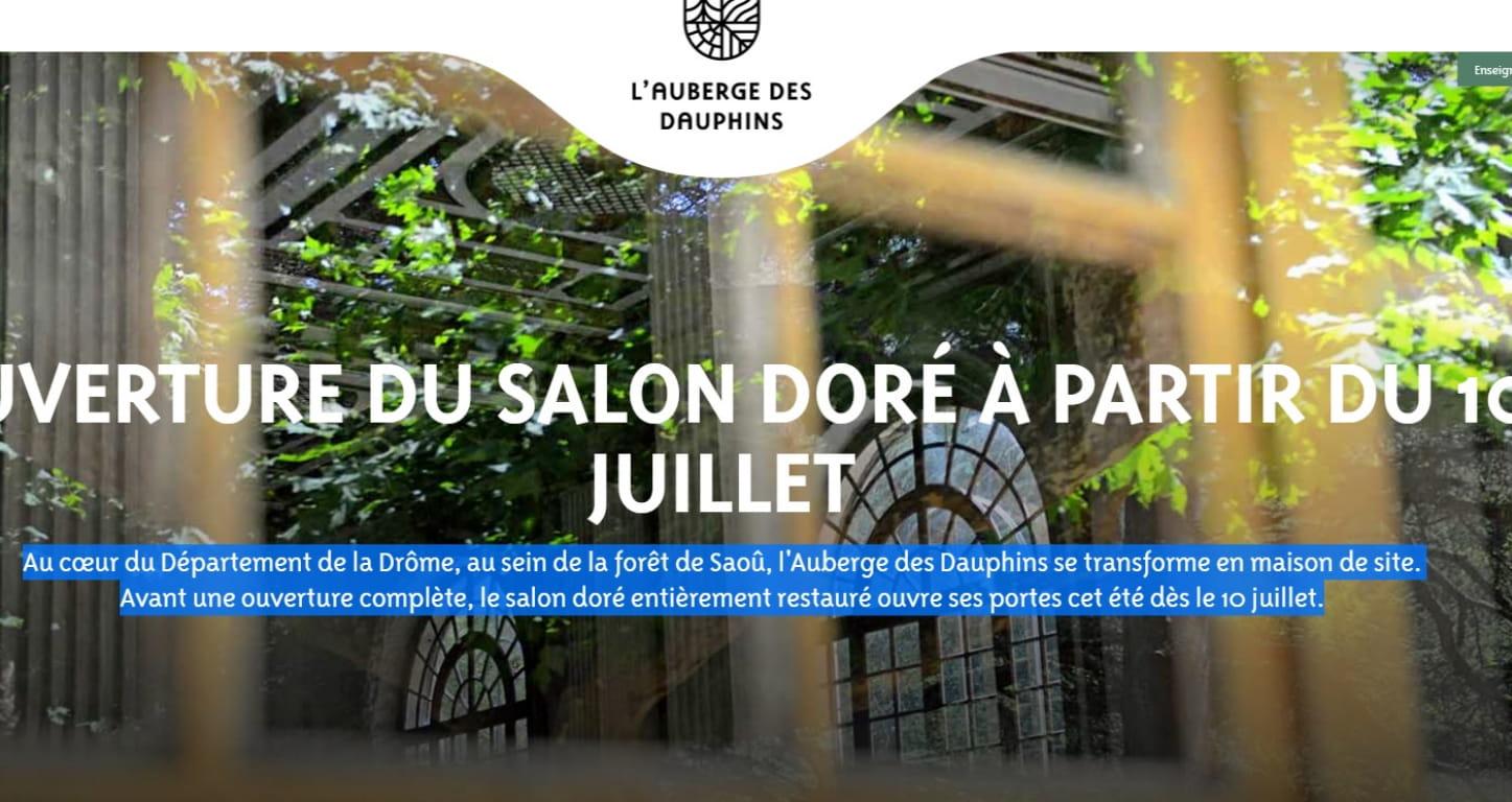 Auberge des Dauphins au cœur de la forêt de Saoû dans la Drôme