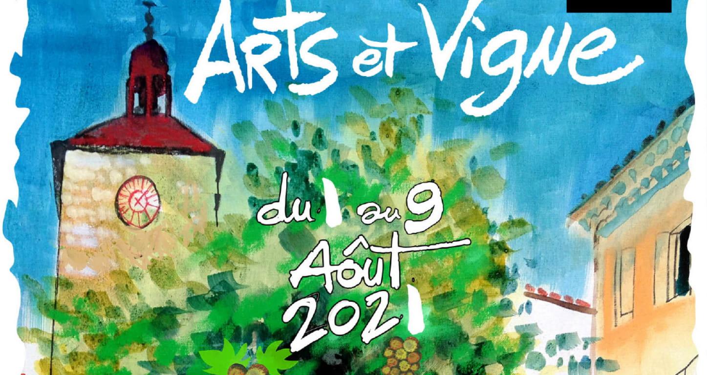 affiche festival arts et vignes