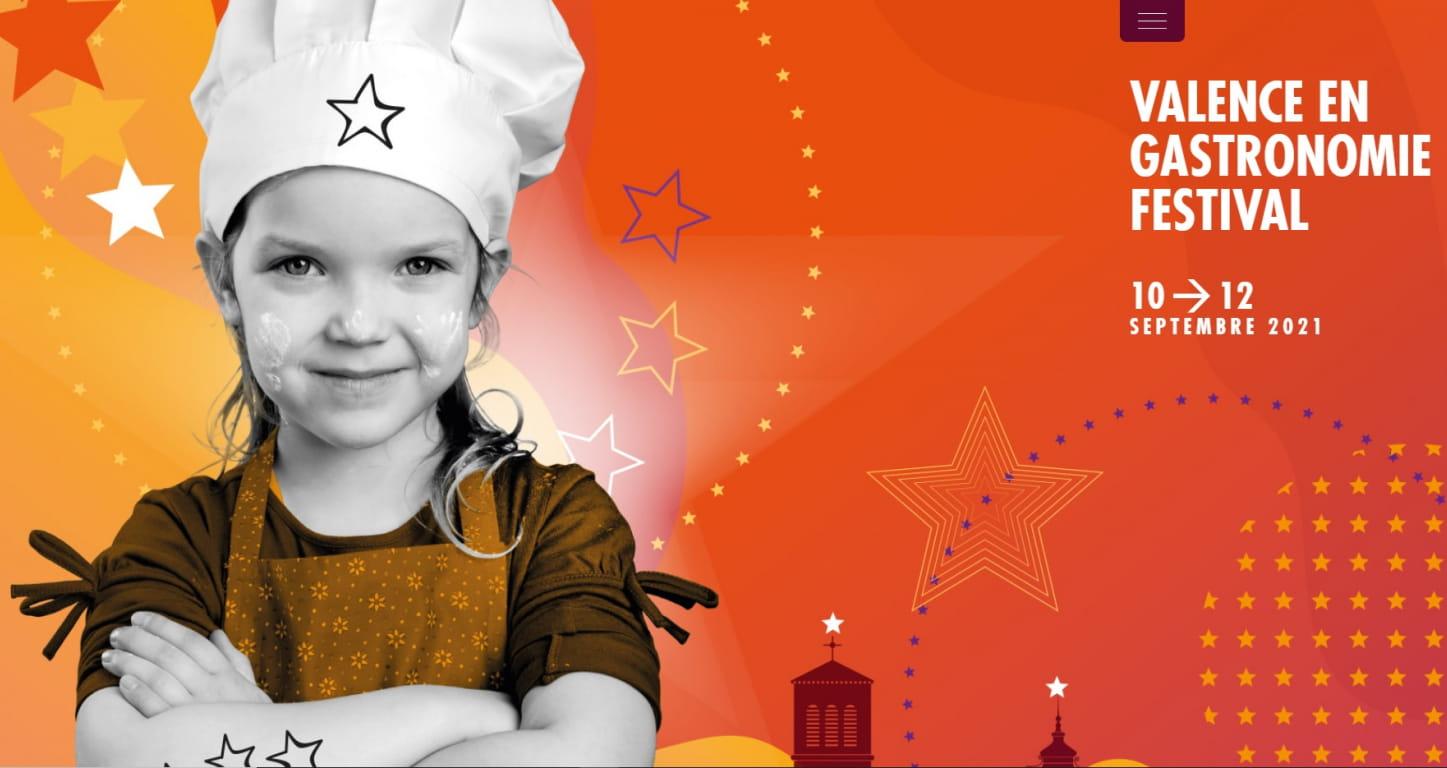 affiche valence en gastronomie festival