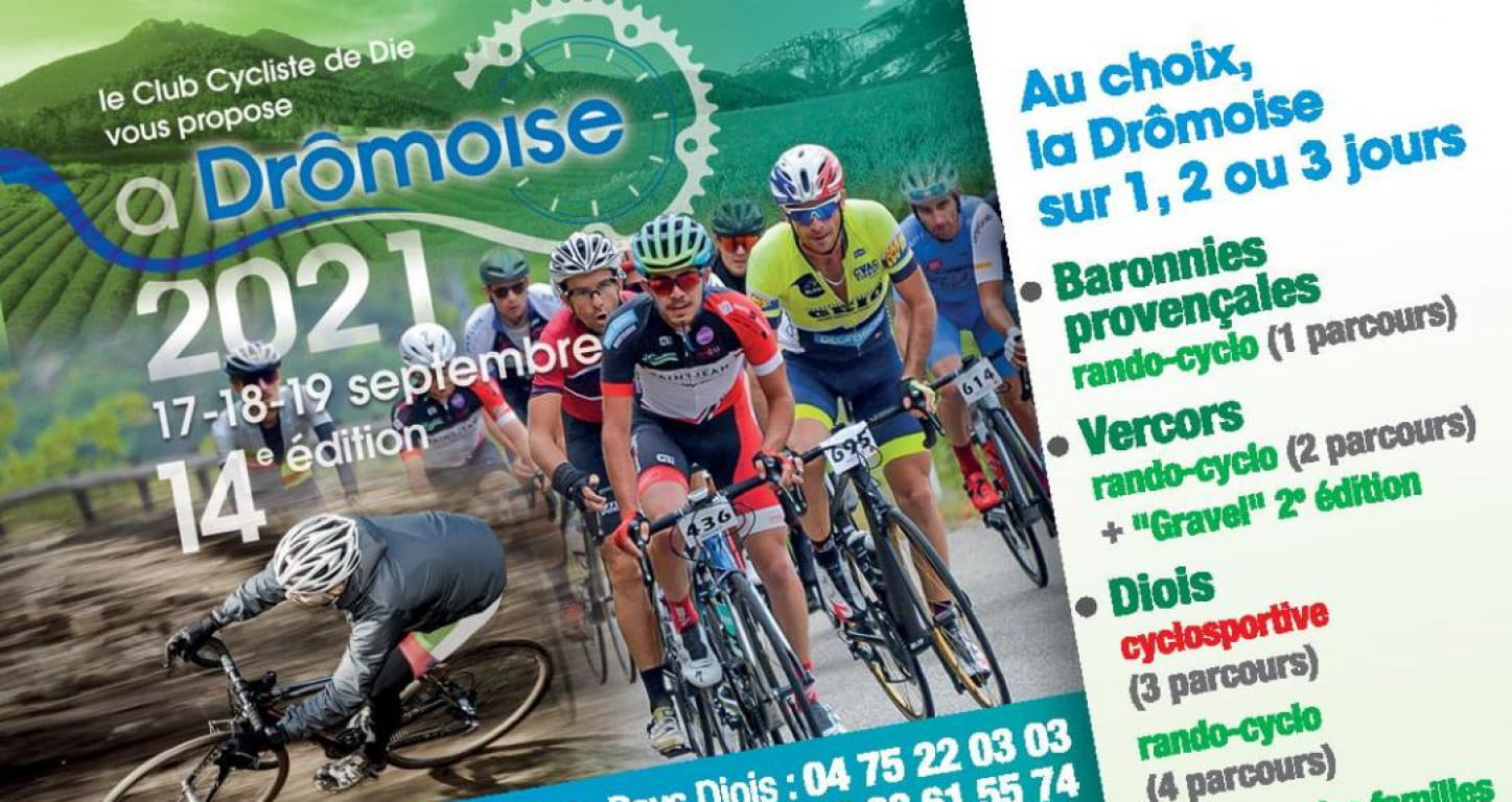 affcihe course cyclo la Drômoise