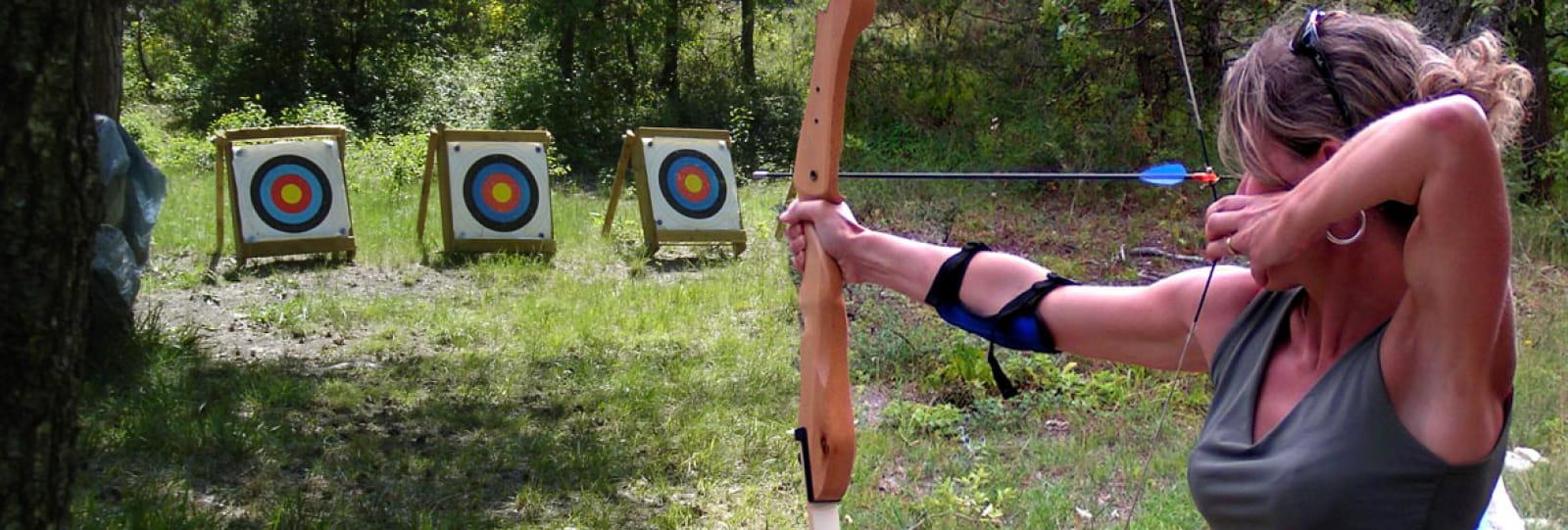 Acro Pôle aventure : tir à l'arc et sarbacane
