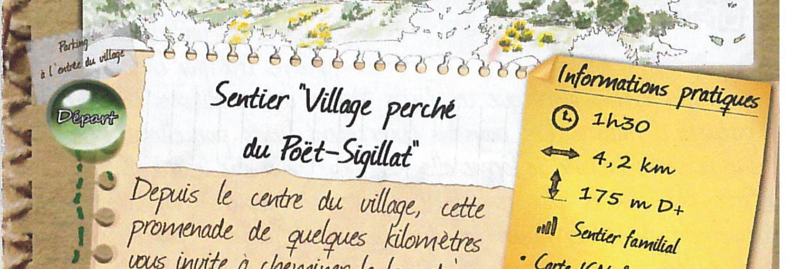 Village perché du Poët-Sigillat