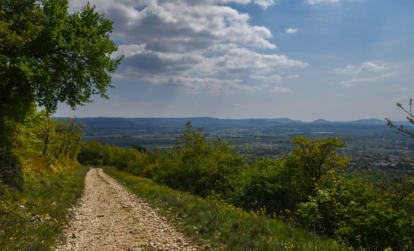 Vue sur l'Ardèche et la Drôme
