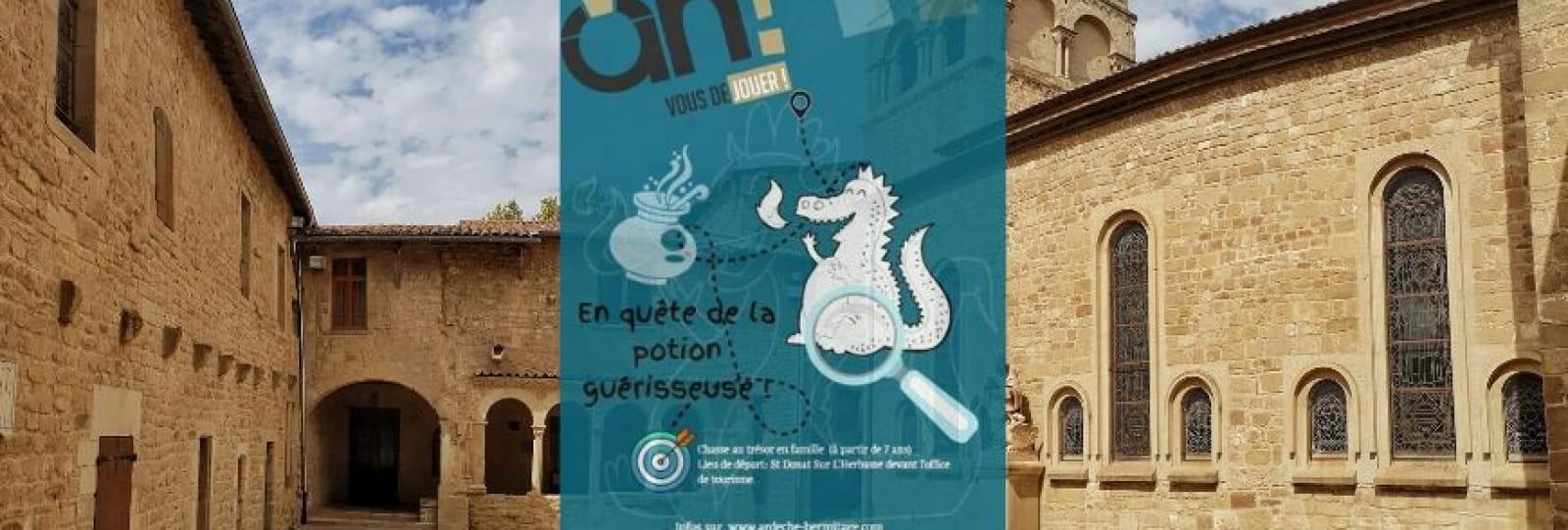 Chasse au trésor ' À la quête de la potion guérisseuse'_Saint Donat_ Ardèche Hermitage Tourisme