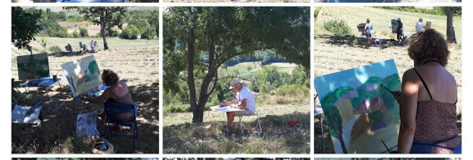 Stage de peinture avec Nadine Nacinovic : la peinture du paysage en Drôme Provençale
