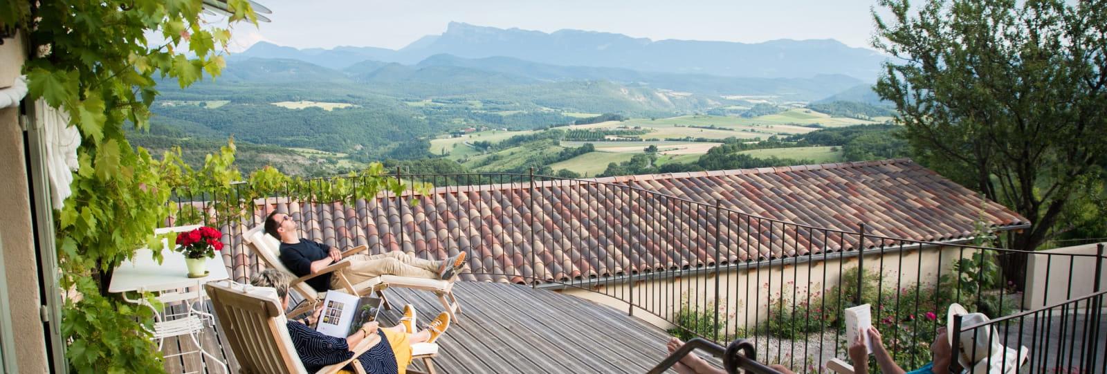 Gite l'Amandier - terrasse