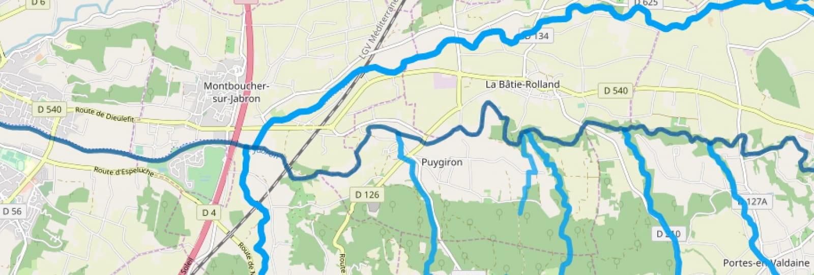Les rivières du Jabron et du Vermenon