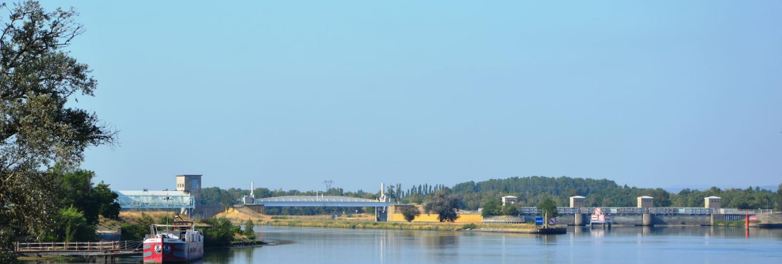 Barrage de Donzère à Mondragon