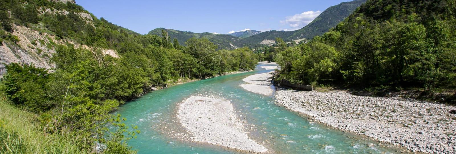 La rivière Drôme et ses nombreux lieux de baignade