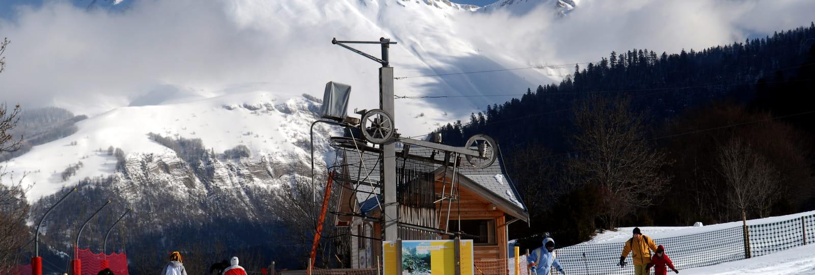 pied des pistes de ski alpin