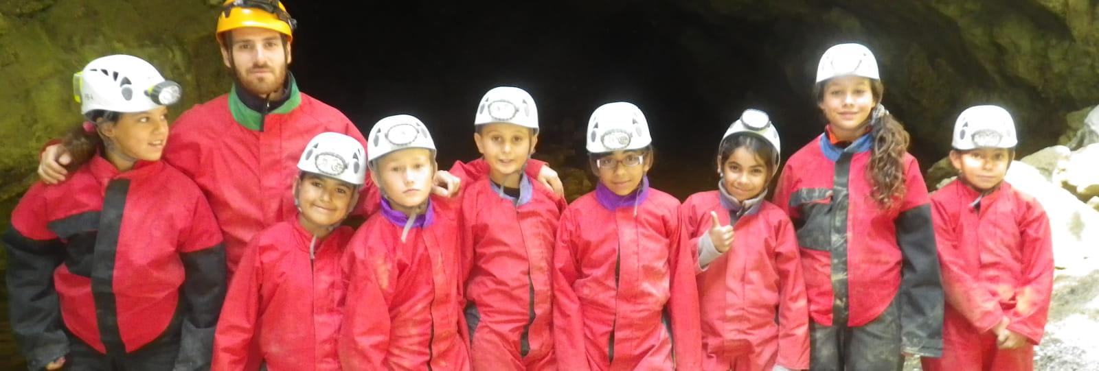 Classe de découverte Eau vive et souterraine Parcours Citoyen IDDJ