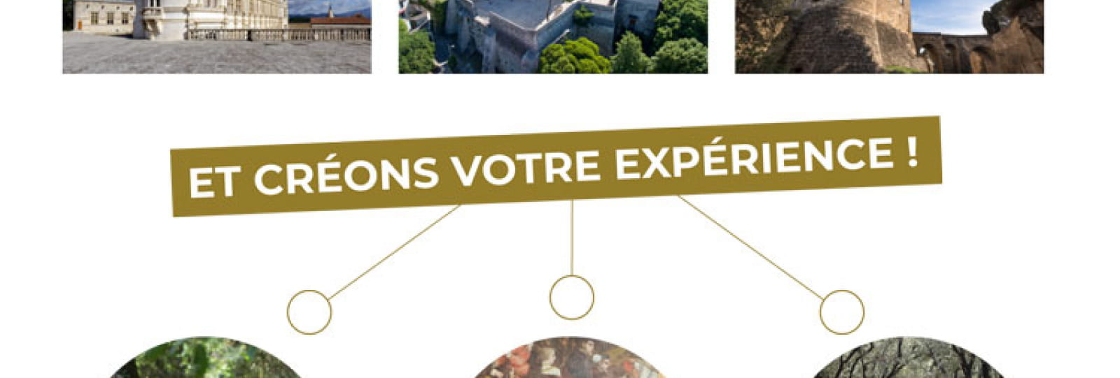 Experience our châteaux !