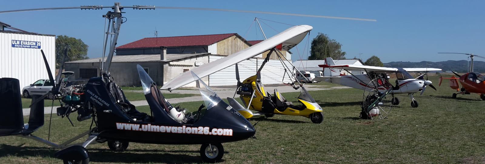 Ecole de pilotage avec ULM Evasion 26