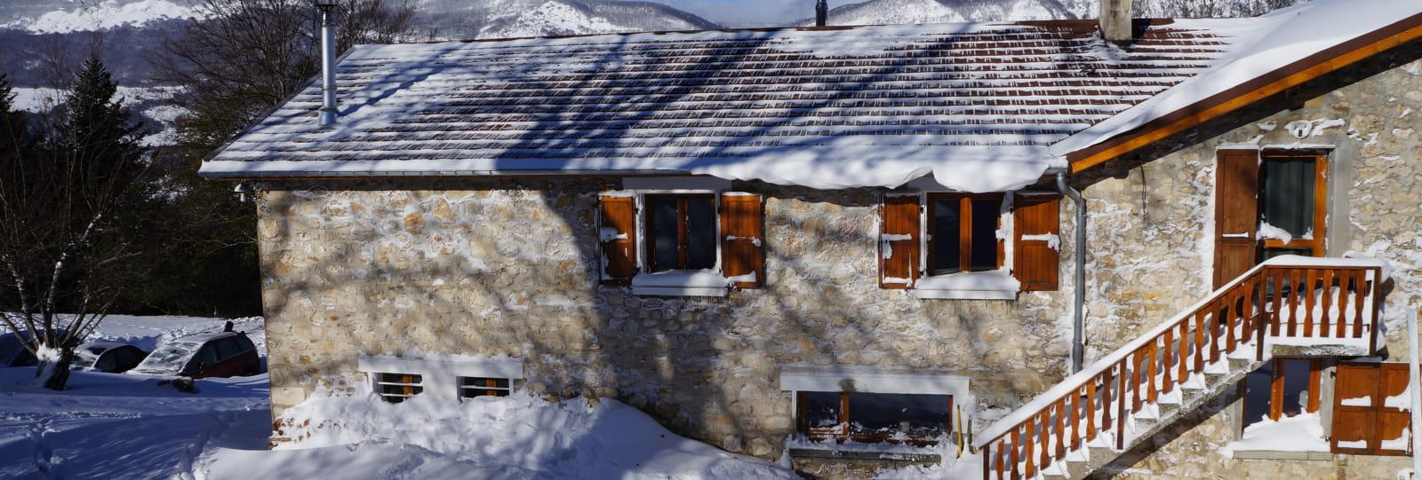 ferme du Pré Gite et centre de vacances Vercors neige