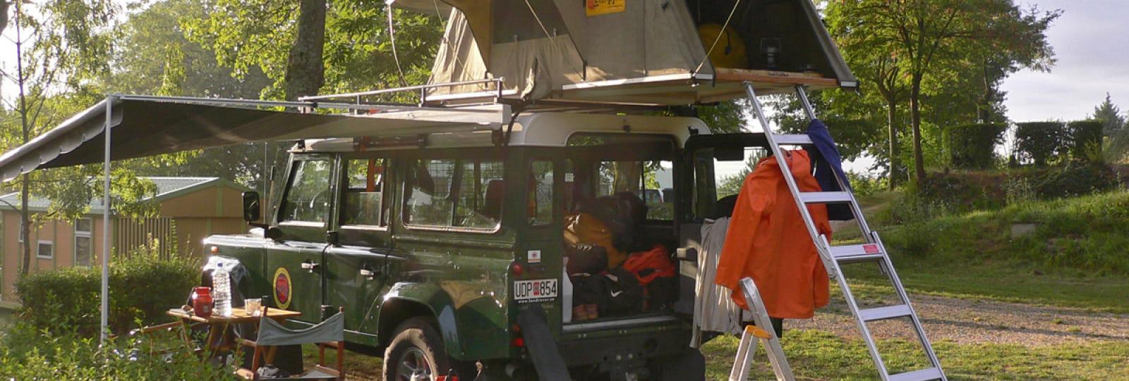 Aire de service/accueil camping-car au camping 'Iserand Calme et Nature'