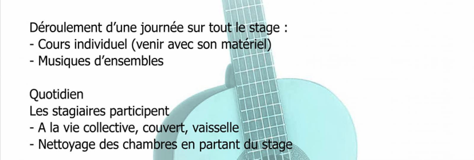 Stage guitare avec Clotilde Bernard