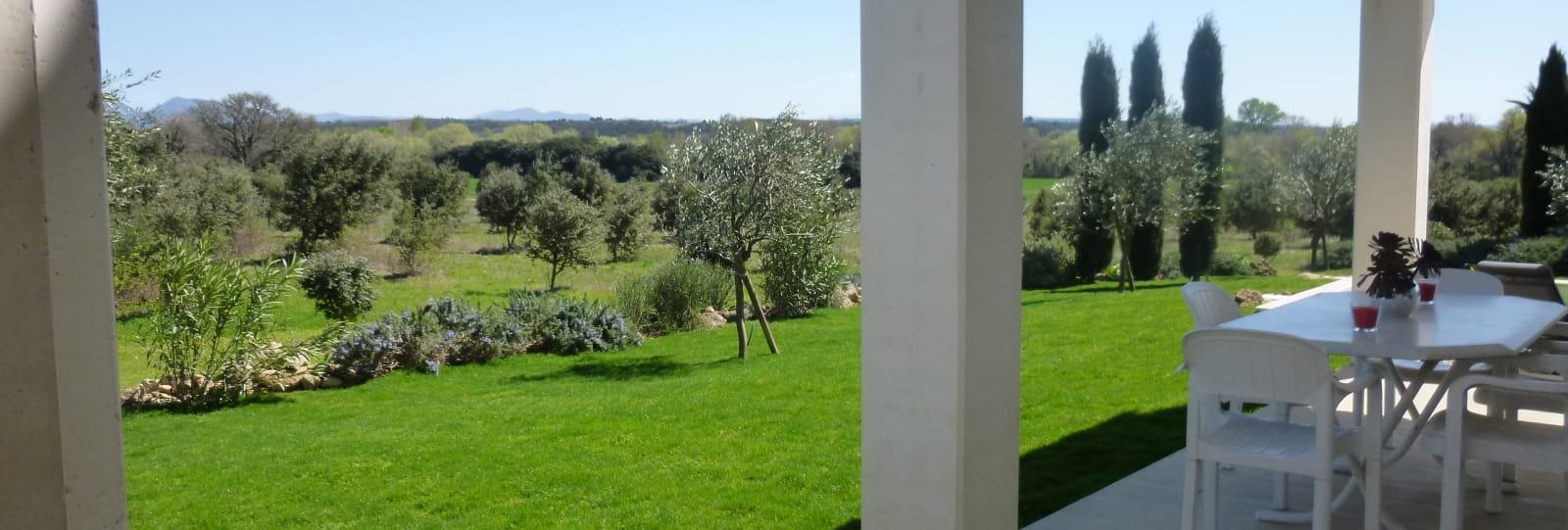 La Maison des Oliviers - vue depuis la terrasse