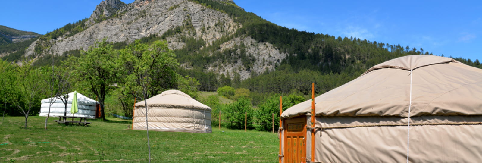 Beaufayne, Solaure and Justine Yurts at the Ferme d'Ausson