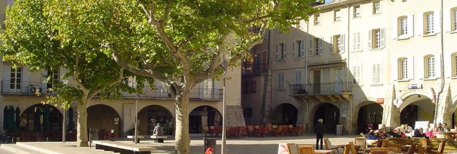 La Place du Docteur Bourdongle ou Place des Arcades
