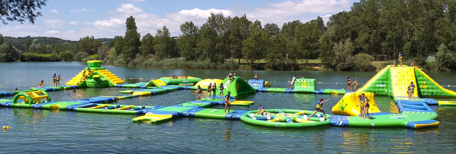Parcours aqualudique Slidesparc