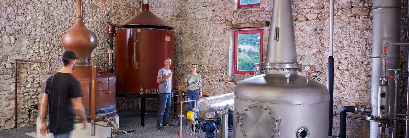 Les alambics de la Distillerie du Vercors