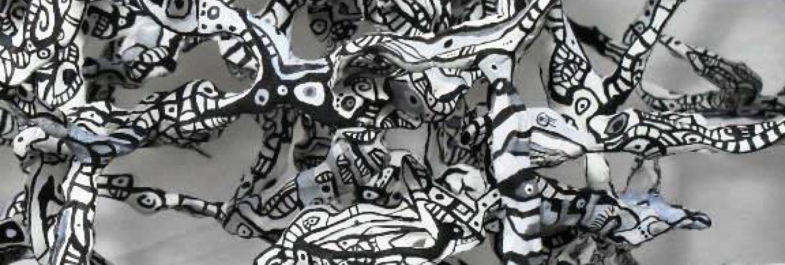 Schmimblock's alba nera 2013 - acrylique sur plastiroc 57x49cm - détail