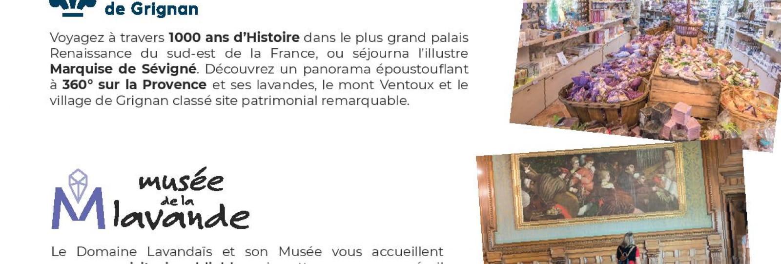 Recto - Journée Exploration : Château de Grignan et Musée de la Lavande