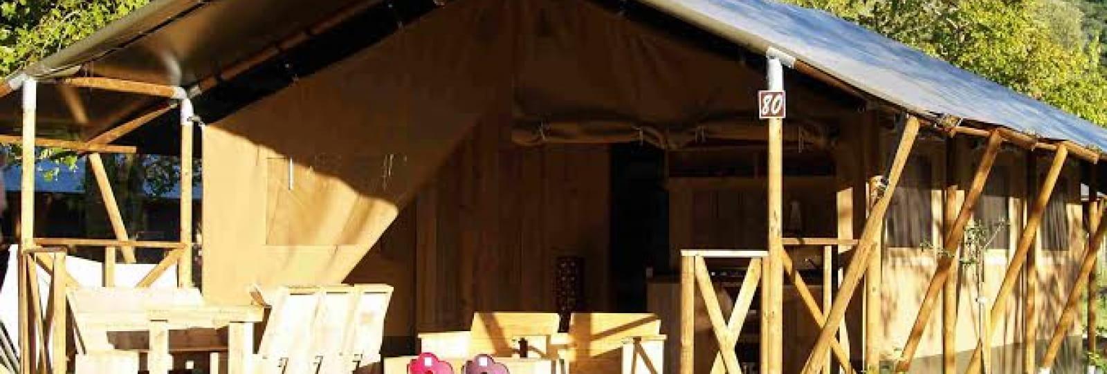 Tente lodge de luxe et bungalow toilé - Les Chamberts