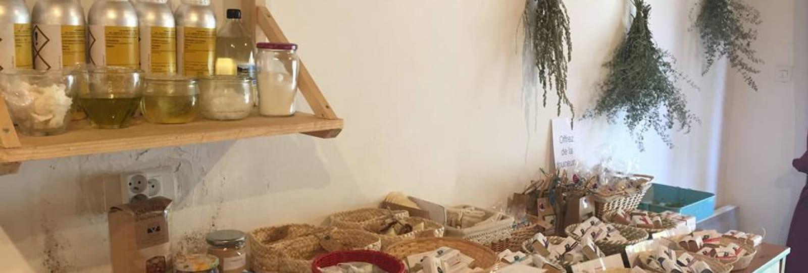 Visite de l'atelier-boutique de savons bio de la Source...