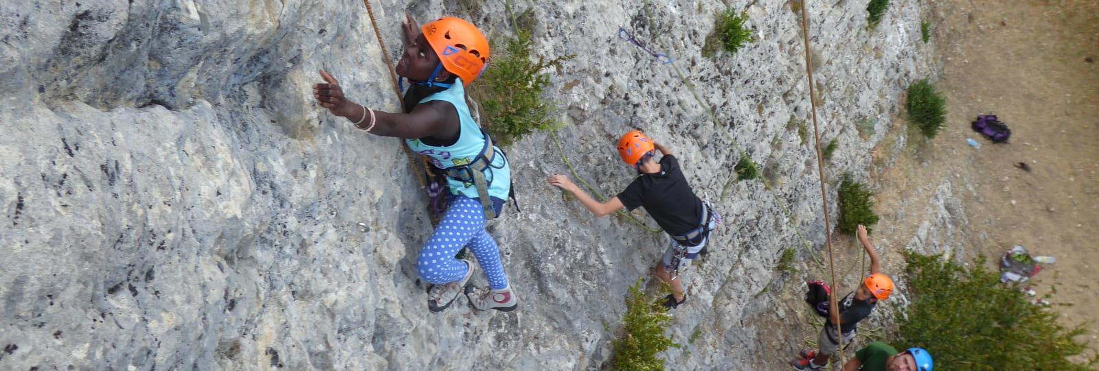 Escalade avec Montbrun Aventure