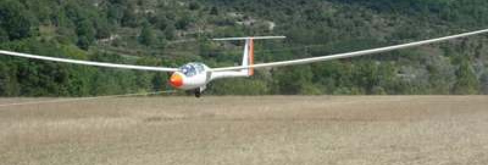 Vol en planeur avec l'association aéronautique de Rochecourbe