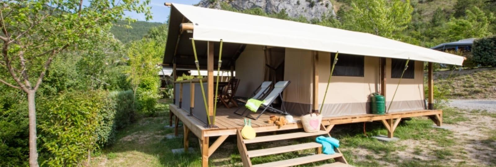 Tentes toilées du camping les Ramières