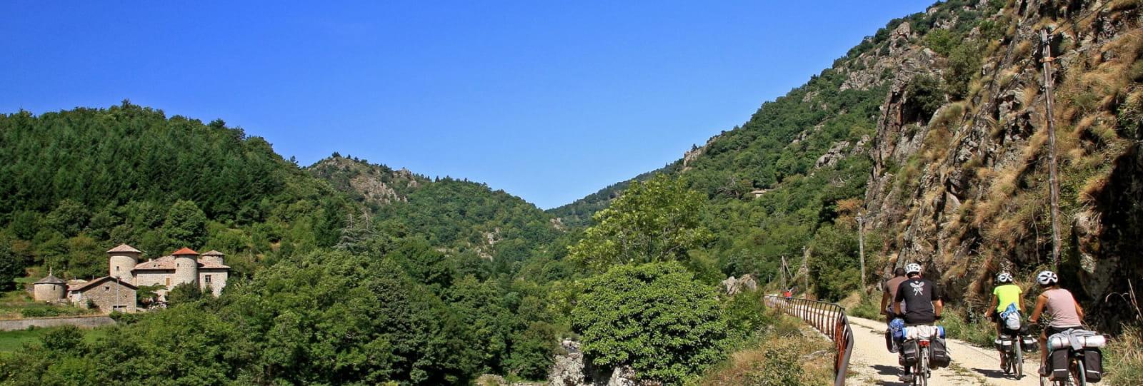 La Dolce Via l'Ardèche à vélo en famille en 5 jours