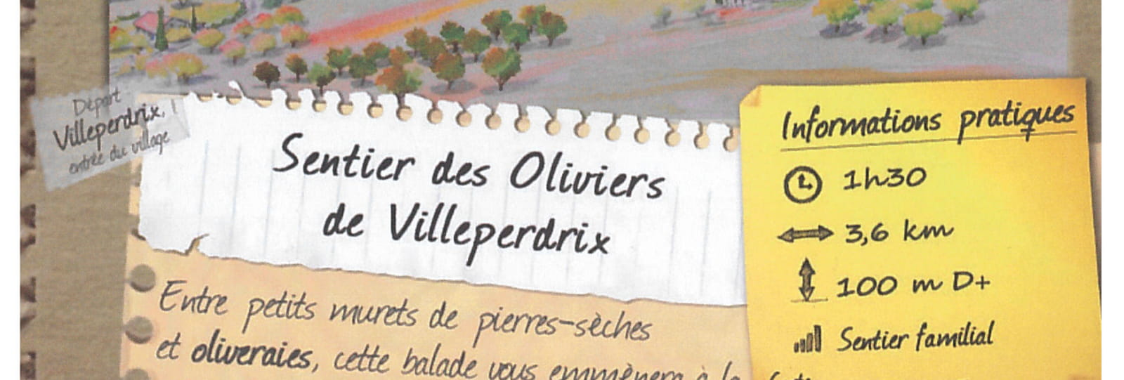 Sentier des Oliviers de Villeperdrix